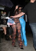 Kylie Jenner and Anastasia Karanikolaou seen leaving the Nice Guy restaurant in West Hollywood, California