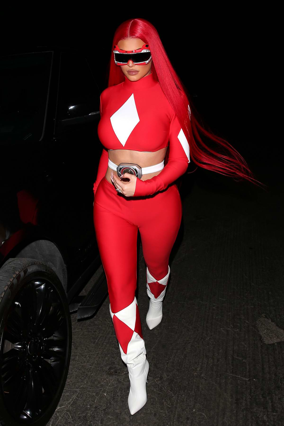Kylie Jenner dresses as a 'Power Ranger' for Halloween in Beverly Hills, California