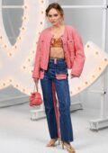 Lily-Rose Depp attends the Chanel Spring-Summer 2021 show during Paris Fashion Week in Paris, France