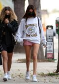 Madison Beer flaunts her slender legs in tiny shorts during a dinner outing in Sherman Oaks, California