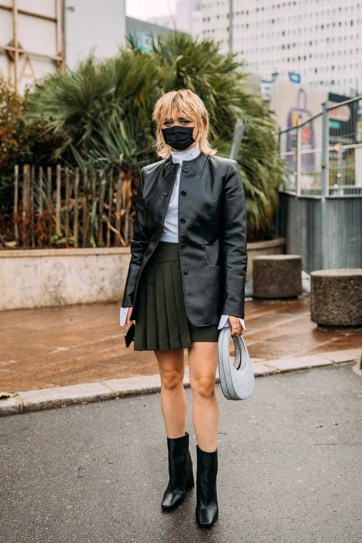 Maisie Williams attends the Coperni Womenswear Spring-Summer 2021 show during Paris Fashion Week in Paris, France