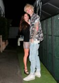 Megan Fox is all smiles during a romantic dinner date with Machine Gun Kelly in Santa Monica, California