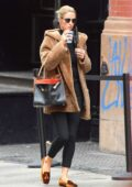 Nicky Hilton looks chic in fur during a coffee run in New York City
