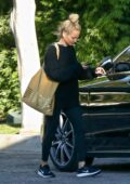 Nicole Richie spotted in all-black while visiting a friend's house in West Hollywood, California