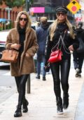 Paris Hilton and Nicky Hilton look super fashionable while out shopping in Manhattan's Soho area, New York City