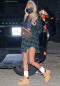 Pia Mia Perez flaunts her toned legs as she leaves Nobu in Malibu, California