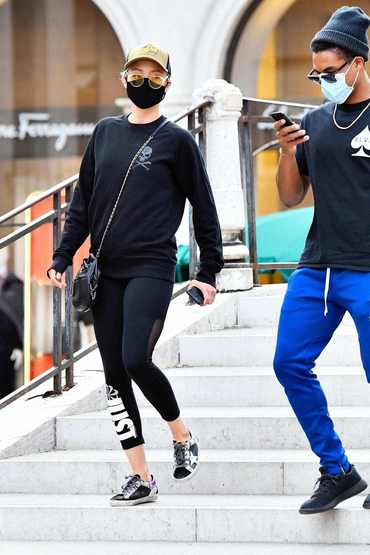 Pom Klementieff enjoys a day out sightseeing with a mystery male friend in Venice, Italy