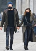 Rebecca Ferguson takes a break from filming 'Mission Impossible 7' as she steps out with her husband Rory in Venice, Italy