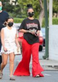 Rihanna stops at Ralphs and Bristol Farms while out shopping for groceries in Beverly Hills, California