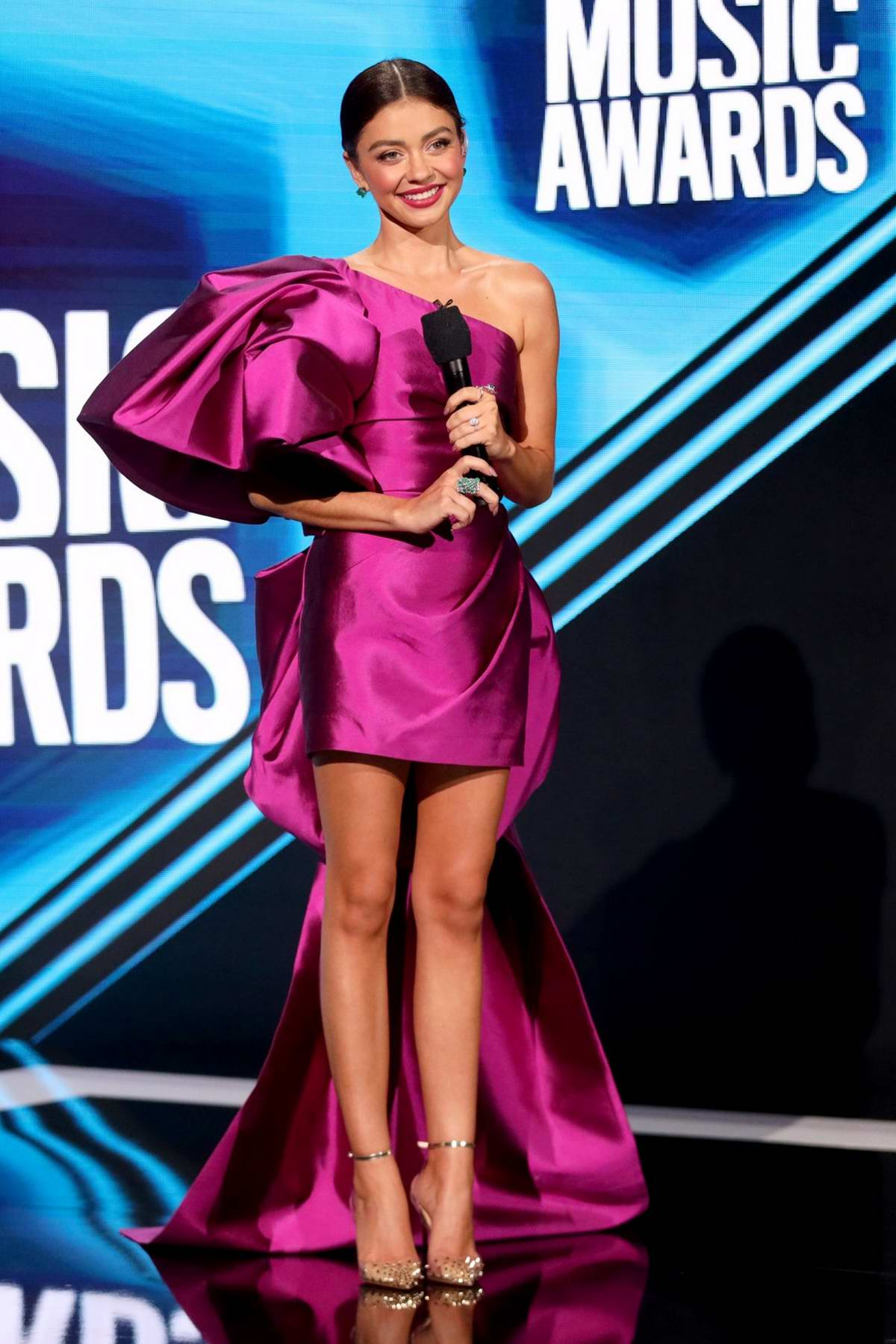 Sarah Hyland attends the 2020 CMT Music Awards in Nashville, Tennessee