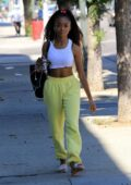 Skai Jackson is all smiles as she heads into DWTS studio in Los Angeles