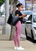 Skai Jackson seen heading out to her Uber after her dance practice in Los Angeles