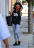 Skai Jackson spotted outside DWTS studio in Los Angeles