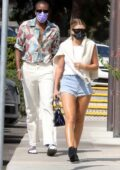 Sofia Richie puts on a leggy display as she steps out for lunch with a friend at Tra di Noi in Malibu, California
