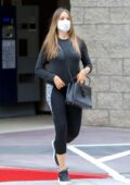 Sofia Vergara dons all-black athleisure while visiting a medical facility in Los Angeles