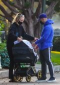 Sophie Turner and Joe Jonas spotted out enjoying an afternoon walk with their baby daughter Willa in Los Angeles