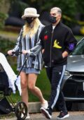 Sophie Turner and Joe Jonas step out for an afternoon stroll with their daughter Willa in in Los Angeles