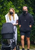 Sophie Turner and Joe Jonas take their daughter Willa out for a stroll in Los Angeles