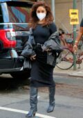 Vanessa Hudgens looks great in all-black on the set of 'Tick, Tick...Boom!' in New York