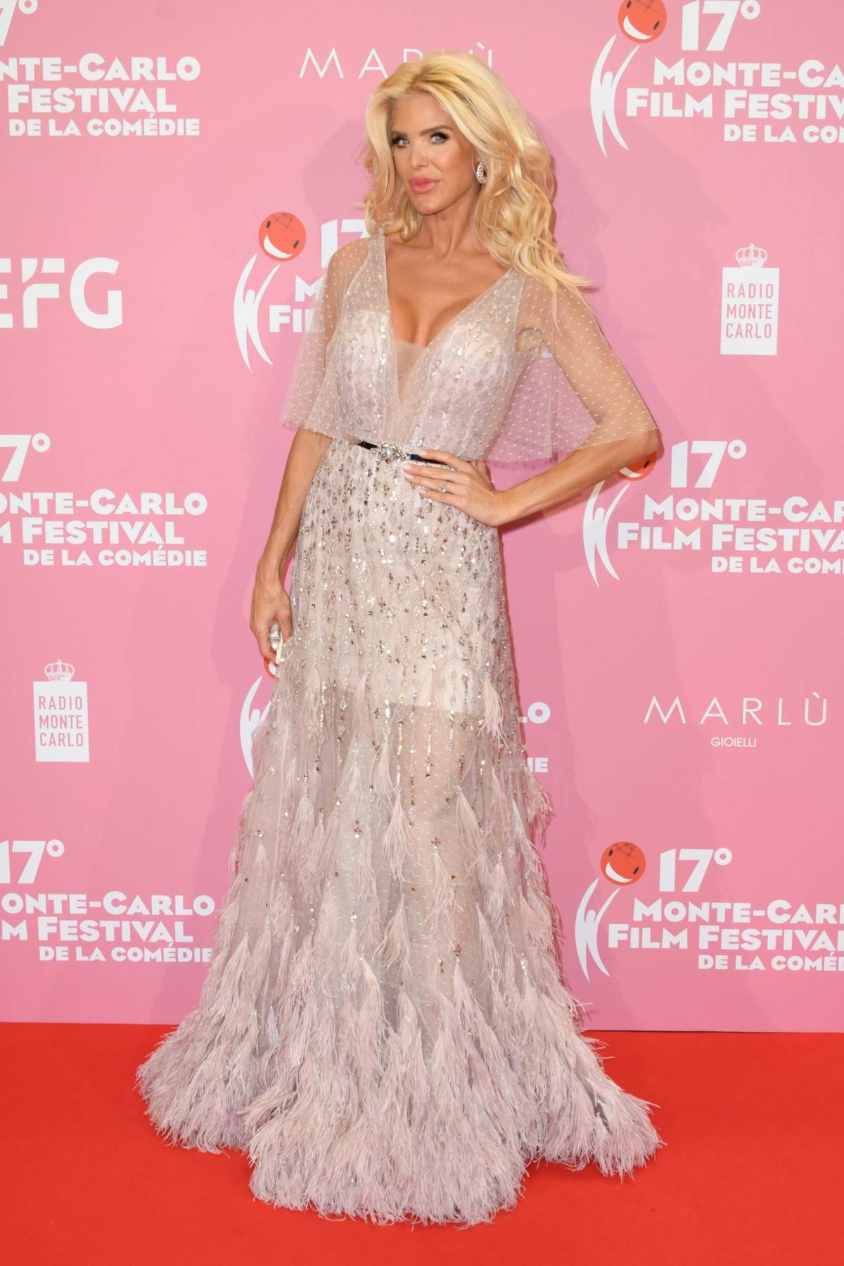 Victoria Silvstedt attends the Red Carpet Gala and awards ceremony during the 17° Monte-Carlo Film Festival De La Comedie in Monaco