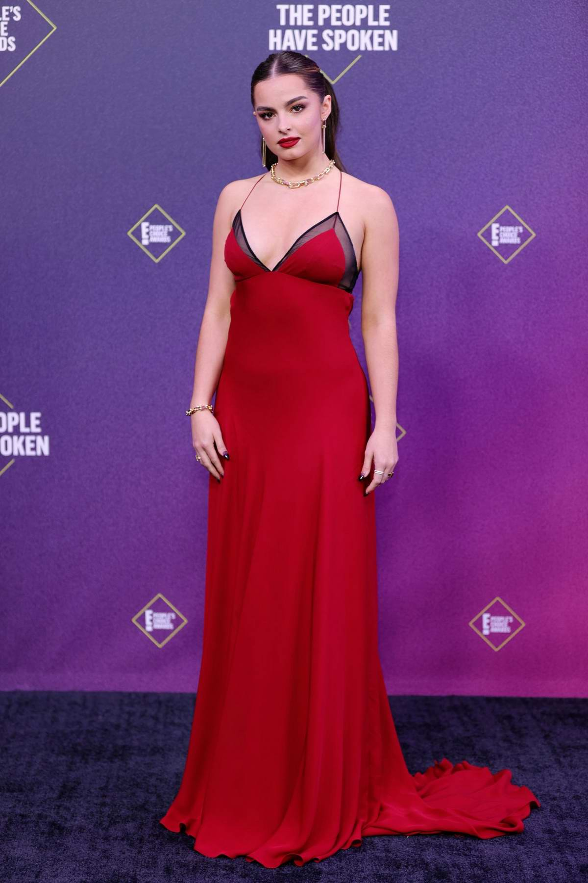 Addison Rae attends the 2020 E! People's Choice Awards at The Barker Hangar in Santa Monica, California