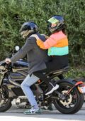 Ana de Armas spotted in a colorful jacket and leggings while enjoying a ride with Ben Affleck in Brentwood, California