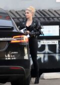 Ariel Winter shows her rock chick look in all-black while making a stop at a studio in Los Angeles