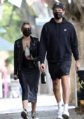Ashley Benson and G-Eazy grab a bite to eat before buying flowers and wine in Los Angeles