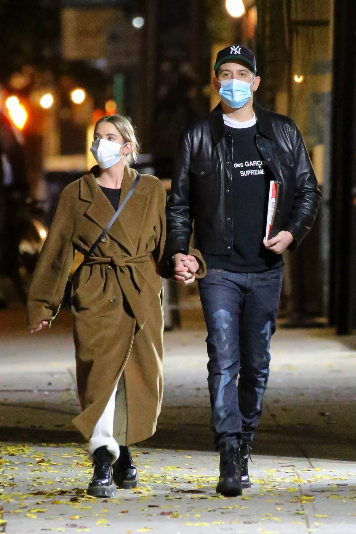 Ashley Benson and G-Eazy seen holding hands as they step out for an evening stroll in New York City