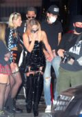 Ashley Benson and G-Eazy seen outside a Halloween party in Los Angeles