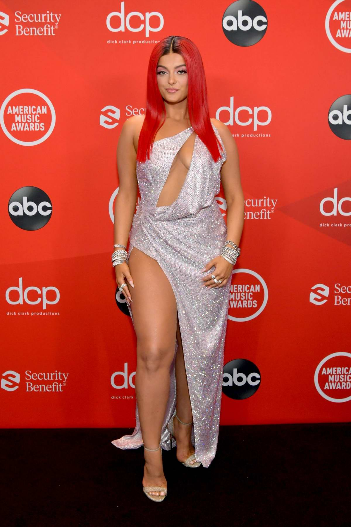 Bebe Rexha attends the 2020 American Music Awards at the Microsoft Theater in Los Angeles