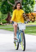 Camila Cabello and Shawn Mendes enjoy a bike ride around their community in Miami, Florida