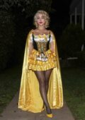 Caylee Cowan dressed as Goldilocks at a Halloween Party in Santa Monica, California