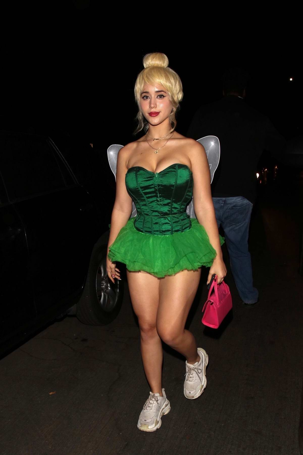 Caylee Cowan dresses up as Tinker Bell while attending Dan Bilzerian's Halloween party in West Hollywood, California