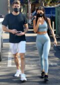 Chantel Jeffries and Andrew Taggart grab a juice drink from Earthbar after their workout in West Hollywood, California
