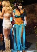 Chantel Jeffries dressed as Princes Jasmine leaves a Halloween Party with boyfriend Andrew Taggart in Los Angeles