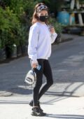 Chantel Jeffries sports sweatshirt and leggings as she and Jocelyn Chew head to the DogPound gym in West Hollywood, California