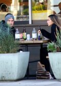 Chloe Bennet and Gregg Sulkin enjoy some lunch and Kombucha at Erewhon in Los Angeles