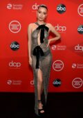 Christian Serratos attends the 2020 American Music Awards at the Microsoft Theater in Los Angeles