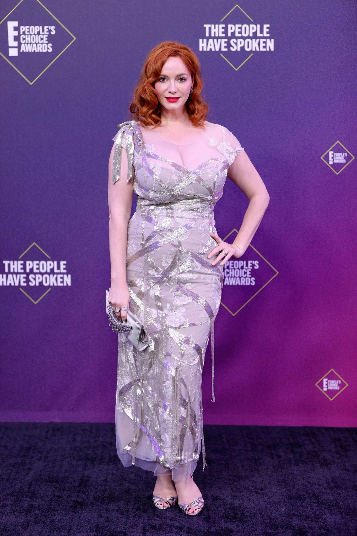 Christina Hendricks attends the 2020 E! People's Choice Awards at The Barker Hangar in Santa Monica, California