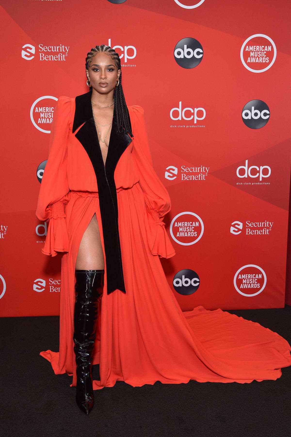 Ciara attends the 2020 American Music Awards at the Microsoft Theater in Los Angeles
