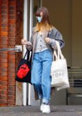 Daisy Edgar-Jones steps out to pickup some groceries at Marks & Spencer in London, UK