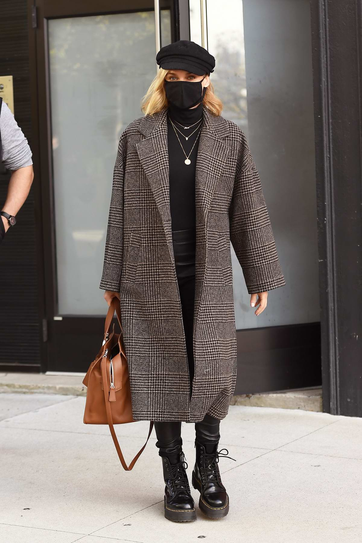 Diane Kruger seen wearing a Mango Coat as she leaves a photoshoot in New York City