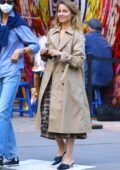 Dianna Agron meets up with friend while out for stroll in Soho, New York