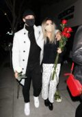 Dixie D'Amelio and Noah Beck step out for dinner with friends at Il Pastaio in Beverly Hills, California