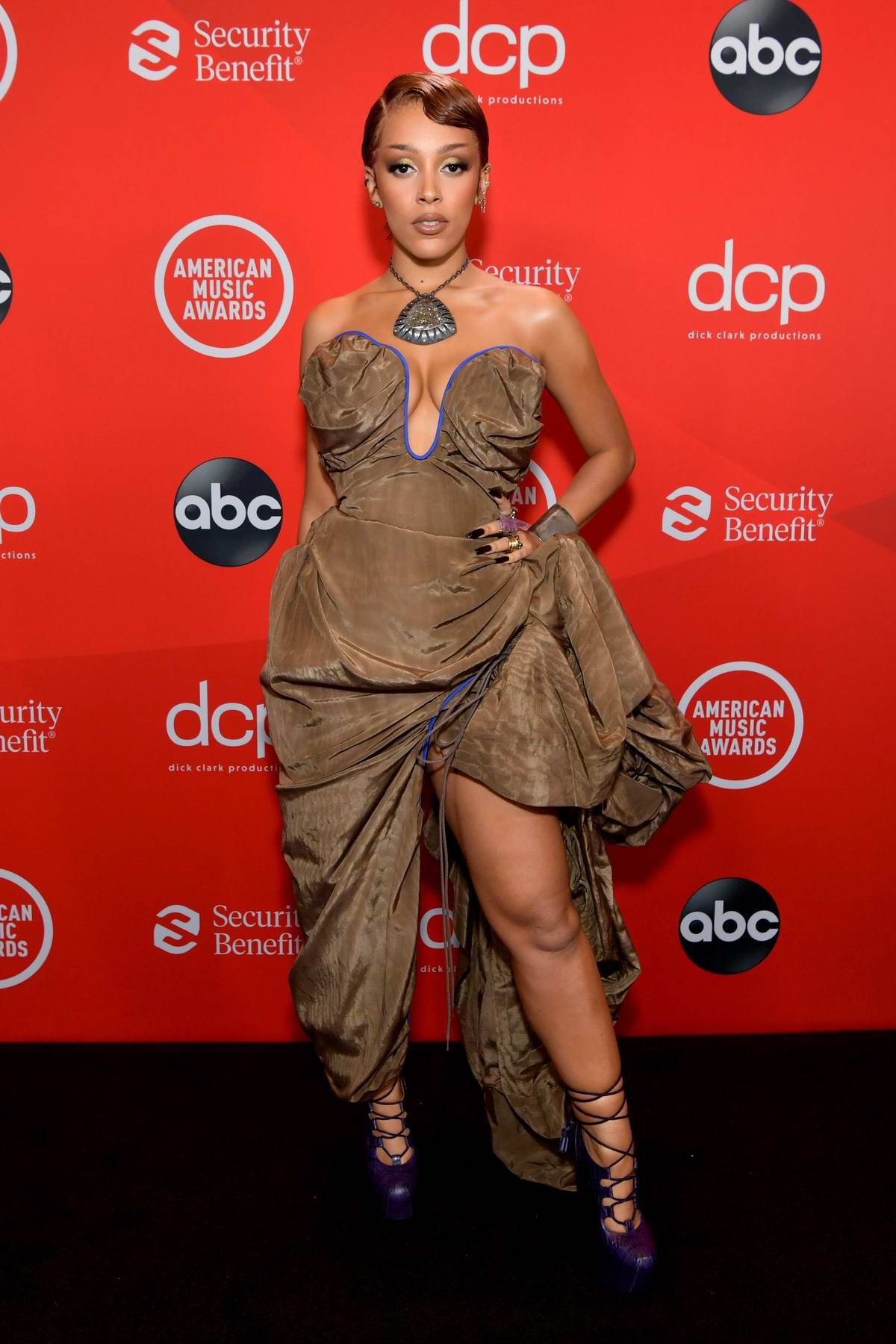 Doja Cat attends the 2020 American Music Awards at the Microsoft Theater in Los Angeles