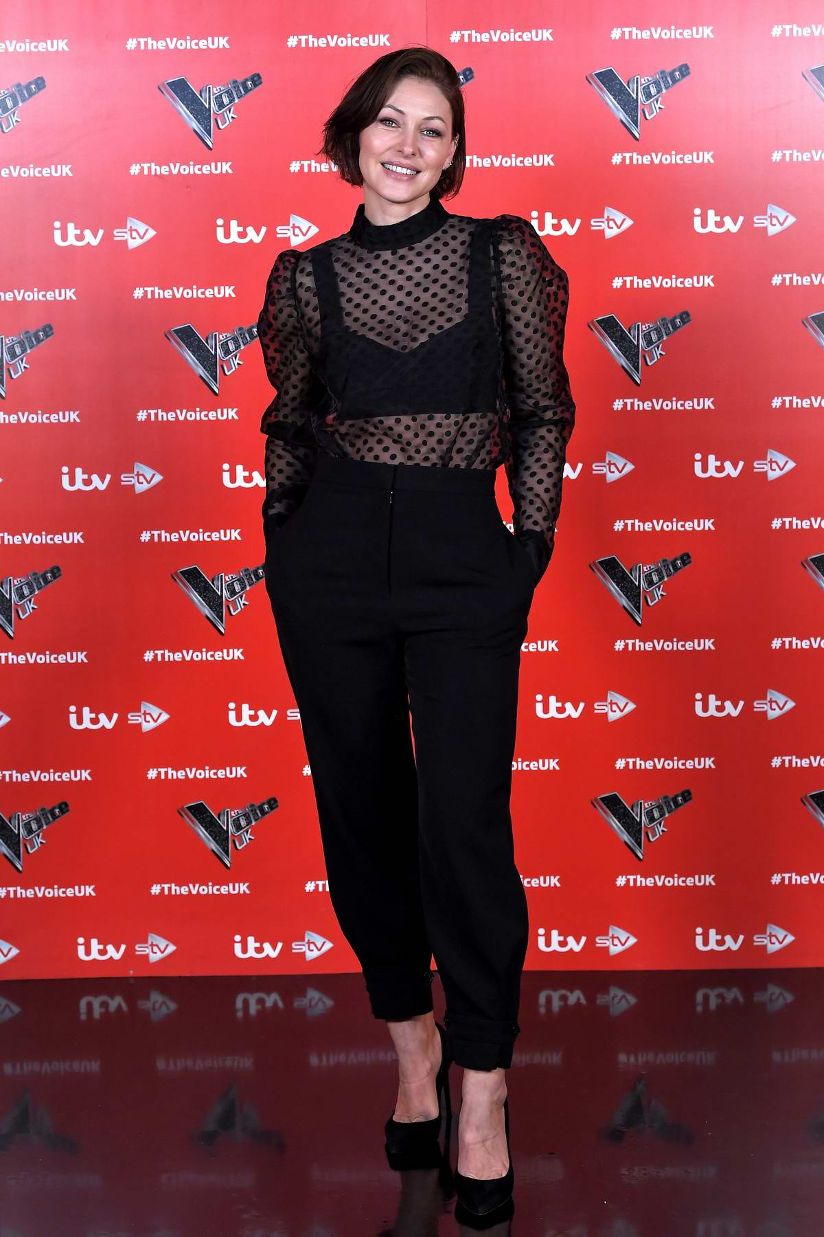 Emma Willis attends 'The Voice UK' Series 4 Photocall in Manchester, UK