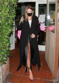 Hailey Bieber and Justin Bieber seen out enjoying a dinner date at Giorgio Baldi in Santa Monica, California