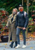 Hilary Duff spends the day with her family at The Bronx Zoo in New York