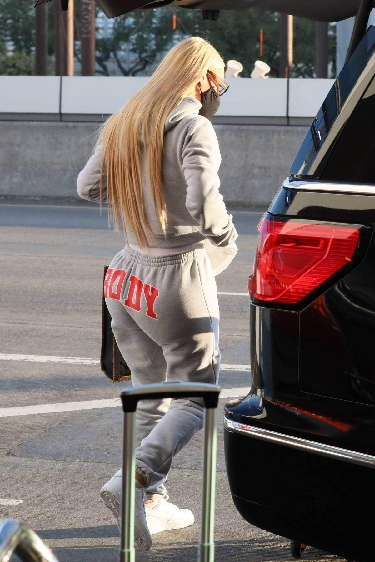 Iggy Azalea seen arriving with her baby for a flight of LAX in Los Angeles